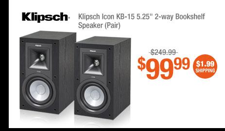 """Klipsch Icon KB-15 5.25"""" 2-way Bookshelf Speaker (Pair)"""