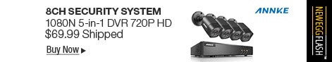Newegg Flash � ANNKE 8CH Security System 1080N 5-in-1 DVR 720P HD
