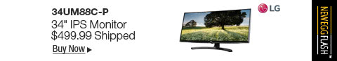 "Newegg Flash �C LG 34UM88C-P 34"" IPS Monitor"