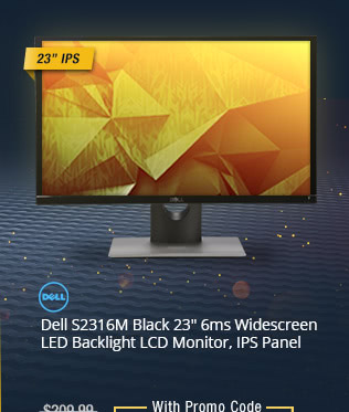"Dell S2316M Black 23"" 6ms Widescreen LED Backlight LCD Monitor, IPS Panel"