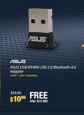 ASUS USB-BT400 USB 2.0 Bluetooth 4.0 Adapter