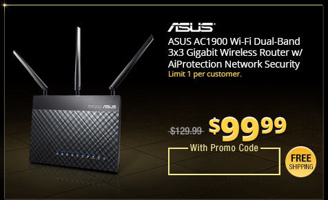 ASUS AC1900 Wi-Fi Dual-Band 3x3 Gigabit Wireless Router w/ AiProtection Network Security Powered by Trend Micro, AiMesh Whole Home Wi-Fi System Compatible (RT-AC68U)
