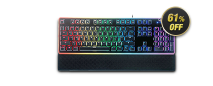 Rosewill NEON K51 - Hybrid Mechanical RGB / Multicolor Backlit Gaming Keyboard, Black