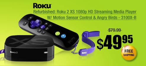 Refurbished: Roku 2 XS 1080p HD Streaming Media Player W/ Motion Sensor Control & Angry Birds - 3100X-B