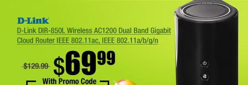 D-Link DIR-850L Wireless AC1200 Dual Band Gigabit Cloud Router IEEE 802.11ac, IEEE 802.11a/b/g/n