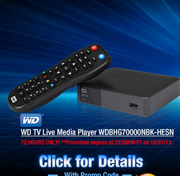 WD TV Live Media Player WDBHG70000NBK-HESN