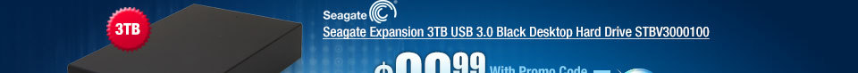 Seagate Expansion 3TB USB 3.0 Black Desktop Hard Drive STBV3000100