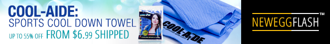 Newegg Flash - COOL-AIDE: SPORTS COOL DOWN TOWEL. UP TO 55% OFF FROM $6.99 SHIPPED.