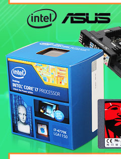 Intel Core i7 4770K Haswell 3.5GHZ Quad-Core CPU + ASUS SABERTOOTH Z87 MOBO + Kingston 120GB SSD + Western Digital Black 1TB