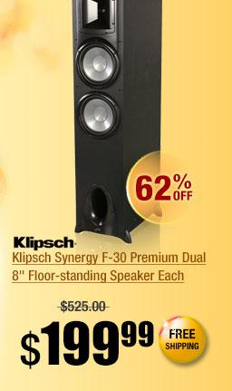 Klipsch Synergy F-30 Premium Dual 8 inch Floor-standing Speaker Each