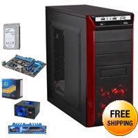 Intel Core i5-3570K 3.4GHz Quad-Core CPU, ASUS P8B75-M LX PLUS MB, G.SKILL Ripjaws X Series 8GB DDR3 1600 Mem, Seagate 1TB MLC/8GB Solid State Hybrid Drive, Rosewill REDBONE U3 Case, Rosewill 500W PSU