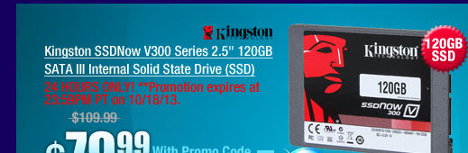 Kingston SSDNow V300 Series 2.5 inch 120GB SATA III Internal Solid State Drive (SSD)