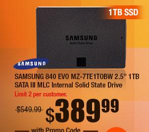 "SAMSUNG 840 EVO MZ-7TE1T0BW 2.5"" 1TB SATA III MLC Internal Solid State Drive"