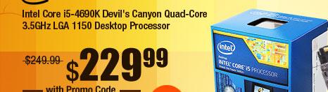 Intel Core i5-4690K Devil's Canyon Quad-Core 3.5GHz LGA 1150 Desktop Processor