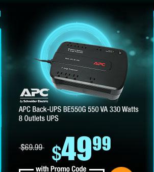APC Back-UPS BE550G 550 VA 330 Watts 8 Outlets UPS