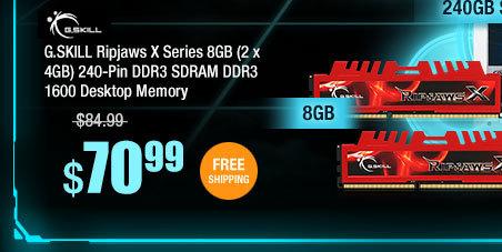 G.SKILL Ripjaws X Series 8GB (2 x 4GB) 240-Pin DDR3 SDRAM DDR3 1600 Desktop Memory
