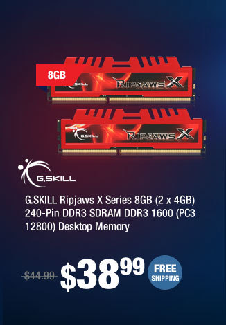 G.SKILL Ripjaws X Series 8GB (2 x 4GB) 240-Pin DDR3 SDRAM DDR3 1600 (PC3 12800) Desktop Memory