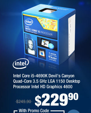 Intel Core i5-4690K Devil's Canyon Quad-Core 3.5 GHz LGA 1150 Desktop Processor Intel HD Graphics 4600