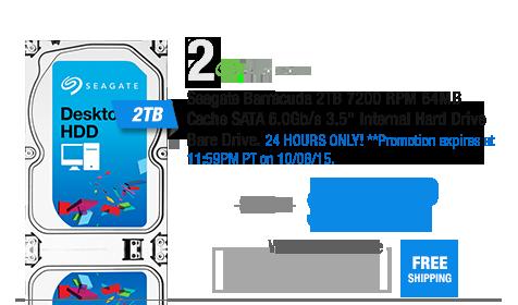 "Seagate Barracuda 2TB 7200 RPM 64MB Cache SATA 6.0Gb/s 3.5"" Internal Hard Drive Bare Drive"