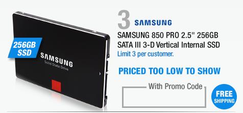 "SAMSUNG 850 PRO 2.5"" 256GB SATA III 3-D Vertical Internal SSD"