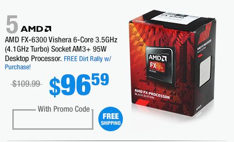 AMD FX-6300 Vishera 6-Core 3.5GHz (4.1GHz Turbo) Socket AM3+ 95W Desktop Processor