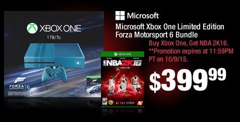 Microsoft Xbox One Limited Edition Forza Motorsport 6 Bundle