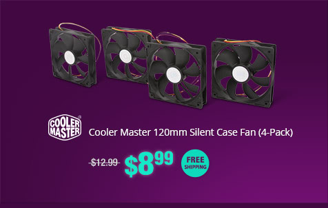 Cooler Master 120mm Silent Case Fan (4-Pack)