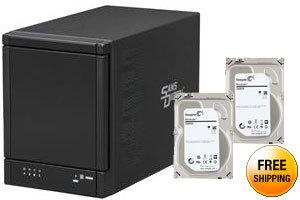 Sans Digital 4 Bay eSATA Port Multiplier JBOD Tower Storage Enclosure (no eSATA Card bundle) TR4M+BNC