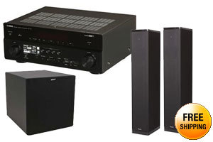 """Yamaha RX-V775WA Network AV Receiver + 2X Definitive Technology Bipolor Floor-standing Speaker + Energy Power 12 Sub 12"""" Subwoofer"""
