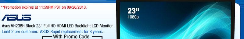 "Asus VH238H Black 23"" Full HD HDMI LED Backlight LCD Monitor"
