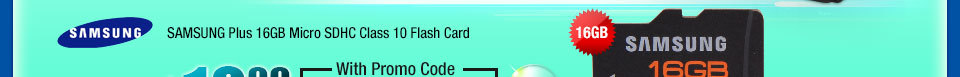 SAMSUNG Plus 16GB Micro SDHC Class 10 Flash Card