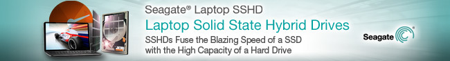 Seagate Laptop SSHD. Laptop Solid State Hybrid Drives. SSHDs Fuse the Blazing Speed of a SSD with the High Capacity of a Hard Drive.
