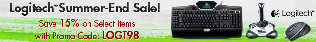 Logitech Summer-End Sale! Save 15% on Select Items with Promo Code: LOGT98.