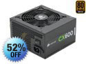 CORSAIR Builder Series CX600 600W PLUS BRONZE Certified Active PFC Power Supply