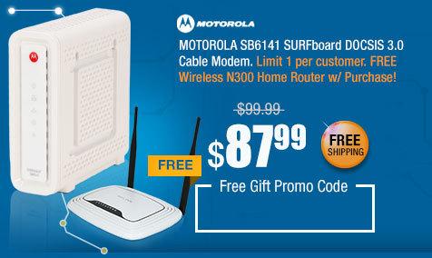 MOTOROLA SB6141 SURFboard DOCSIS 3.0 Cable Modem