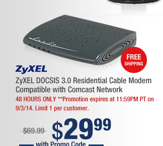 ZyXEL DOCSIS 3.0 Residential Cable Modem Compatible with Comcast Network