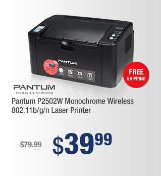 Pantum P2502W Monochrome Wireless 802.11b/g/n Laser Printer