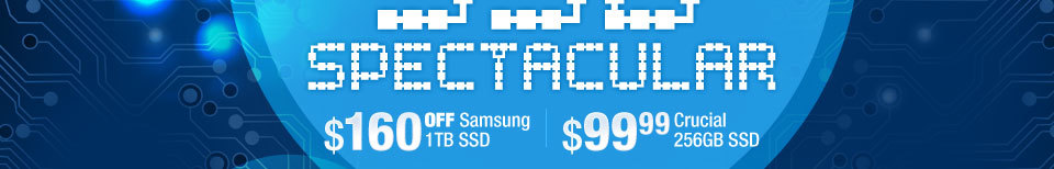 $160 OFF Samsung 1TB SSD | $99.99 Crucial 256GB SSD