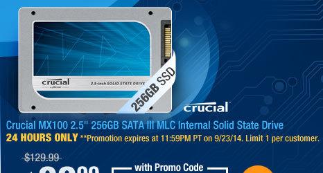 "Crucial MX100 2.5"" 256GB SATA III MLC Internal Solid State Drive"