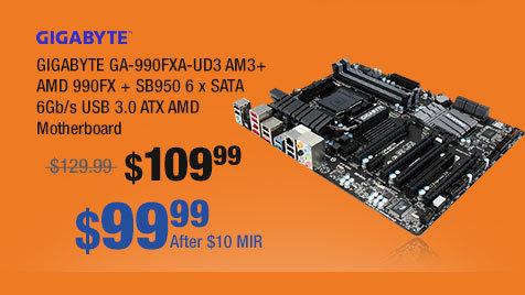 GIGABYTE GA-990FXA-UD3 AM3+ AMD 990FX + SB950 6 x SATA 6Gb/s USB 3.0 ATX AMD Motherboard