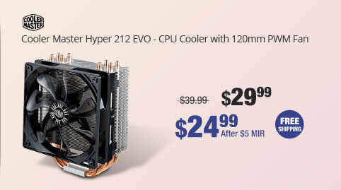 Cooler Master Hyper 212 EVO - CPU Cooler with 120mm PWM Fan