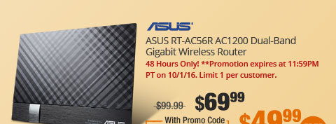 ASUS RT-AC56R AC1200 Dual-Band Gigabit Wireless Router