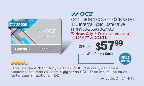 """OCZ TRION 150 2.5"""" 240GB SATA III TLC Internal Solid State Drive (TRN150-25SAT3-240G)"""