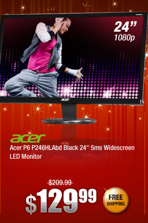 Acer P6 P246HLAbd Black 24 inch 5ms Widescreen LED Monitor