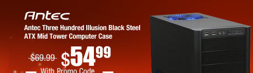Antec Three Hundred Illusion Black Steel ATX Mid Tower Computer Case