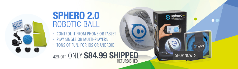 Sphero Limited Edition 2.0 (Refurbished) with Blue Nubby Cover