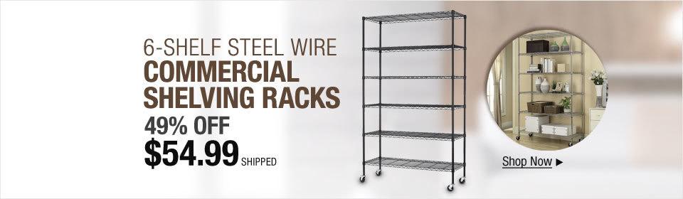 6-Shelf Commercial Shelving Racks