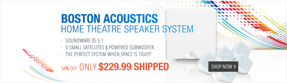 Boston Acoustics SoundWare XS 5.1-Channel Home Theater Speaker System (White)