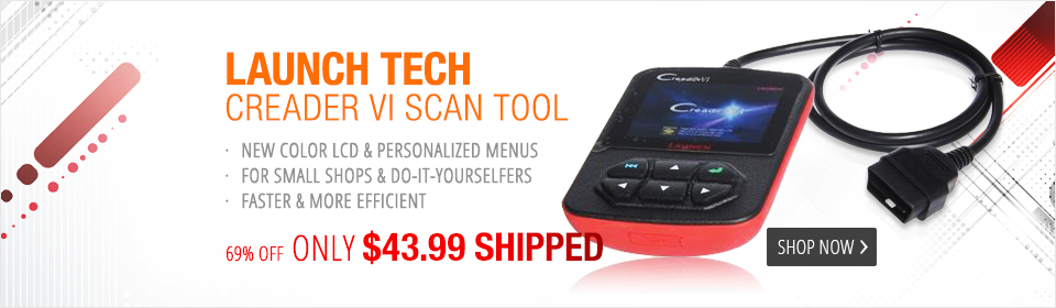 Launch Tech CReader VI OBDII / EOBD Code Reader CReader 6 with color screen