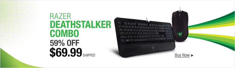 Razer Essential - DeathStalker Gaming Keyboard and Abyssus Gaming Mouse Combo Bundle